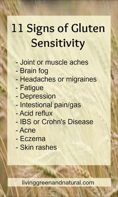Infographic: 11 Symptoms of Gluten Sensitivity