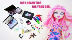 How to make doll cosmetics stuff for Monster High, Barbie and American Girl Doll Crafts, Diy Doll, Fun Crafts, Monster High House, Monster High Dolls, Dollhouse Accessories, Doll Accessories, Make Up Shadow, Doll Makeup