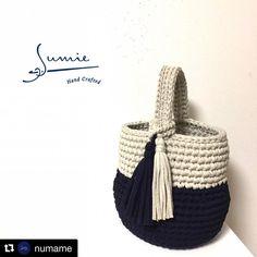 """ถูกใจ 129 คน, ความคิดเห็น 2 รายการ - zpagetti Tシャツヤーン販売 Ars (@arsselect_shop) บน Instagram: """"お客様作品ご紹介です @numame 様の作品です! ダルマ型ワンショルダーバッグを作って下さいました @numame 様はいつも様々な素敵な形のバッグを作っていらっしゃいます…"""""""