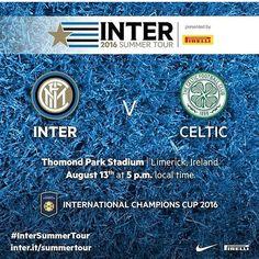Le lieu du 3e match de l'Inter pour l'Internationale Champions Cup est à présent connu : direction l'Irlande et le Thomond Park Stadium ! #icc #fcim #inter #internazionale #celtic #ireland #summertour #limerick #stadium