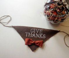 Give Thanks Fall Burlap Boy Bandana Collar by AllPuppiesandLove, $20.00