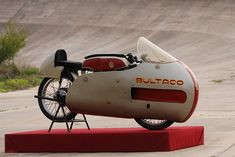 In 1960, the young Spanish manufacturer Bultaco decided to make a name for itself and claim some long distance records. It built this stunningly beautiful 175cc machine, and took it to the Autodrome de Montlhéry just south of Paris. It was a successful trip, with five records in the bag. Best of all, the Bultaco Cazarécords is still in running order, and in the care of the remarkable Museu de la Moto de Bassella in Spain, a two-hour ride northwest of Barcelona.