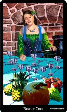 9 de coupes - Tarot sorcières par Ellen Dugan  Mark Evans