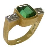 Gold Tourmaline and Diamond Ring by Andrew Grima