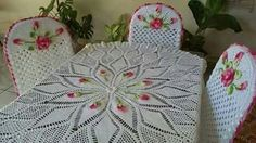 Crochet table set