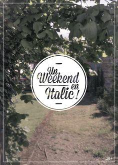 """""""Un Weekend en Italic"""" #poster #affiche #gratuisme #photo #typo #designgraphique #graphisme"""