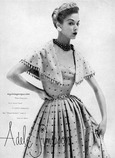 Jean Patchett wearing Adele Simpson 1951