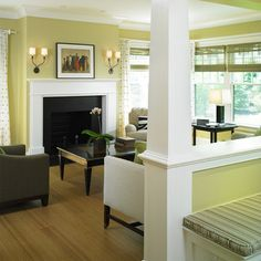 1000 images about half walls on pinterest half walls columns and room dividers - Half wall room divider ideas ...