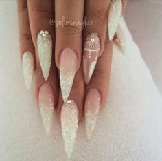 Long Stiletto Acrylic Nails