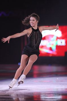 Alissa Czisny -Black Figure Skating / Ice Skating dress inspiration for Sk8 Gr8 Designs.