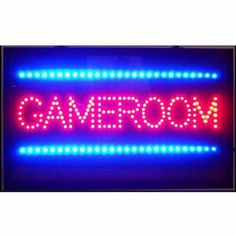 Boys Game Room, Game Room Basement, Room Kids, Basement Ideas, Boy Room, Led Signs, Wall Signs, Star Citizen, Gaming Computer