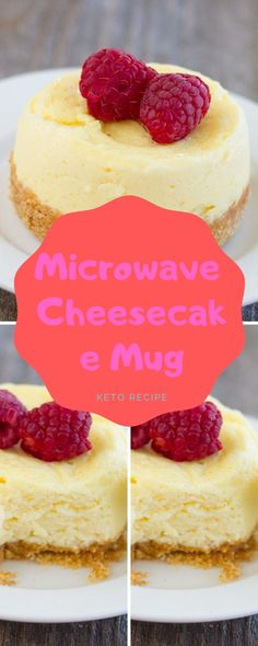 This unmarried serving cheesecake is made in a mug and chefs inside the microwave. It handiest takes approximately ten minutes to prep and . Mug Recipes, Snacks Recipes, Oven Recipes, Delicious Recipes, Sweet Recipes, Keto Recipes, Healthy Snacks, Yummy Food, Healthy Recipes