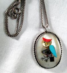 NECKLACE OWL  ABALONE  Mother of Pearl  Turquoise  by MOONCHILD111, $32.95 https://www.etsy.com/shop/MOONCHILD111