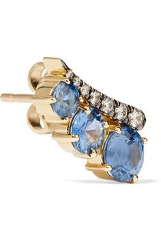 18-karat Gold, Sapphire And Diamond Earring - one size Jemma Wynne