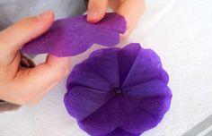 Les fleurs en papier printanières  www.piccolini.fr