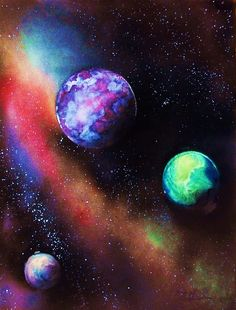Space Painting #3 Chad LaBombarde Collection  TheArtistDen........net