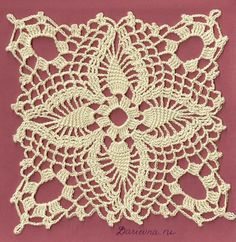 Crochet motif, pattern below picture.