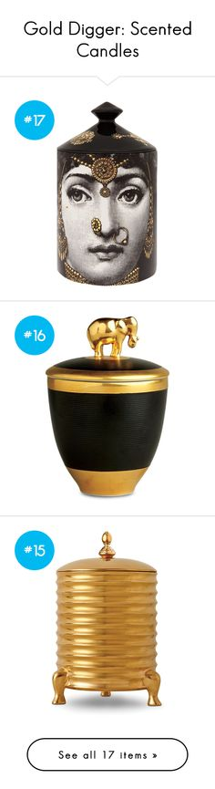 """""""Gold Digger: Scented Candles"""" by polyvore-editorial on Polyvore"""