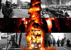 This is about the 2012 London Riots. It shows both sides of the conflict, the rioters versus the police. Both Sides, Police, London, Concert, School, Movie Posters, Art, Art Background, Film Poster