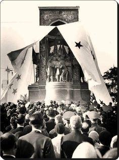 8 ağustos 1928 Taksim Atatürk Anıtının açılışı... İSTANBUL