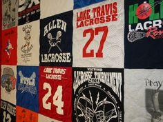 Lake Travis Lacrosse T-shirt Quilt Memory Quilt