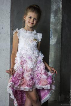 Beautiful felted dress for a girl | Валяное платье для девочки