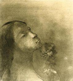 Odilon Redon - The Scent Of Evil - Fine Art Print