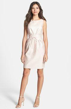 Gabby Skye Bow Waist Jacquard Sheath Dress | Nordstrom