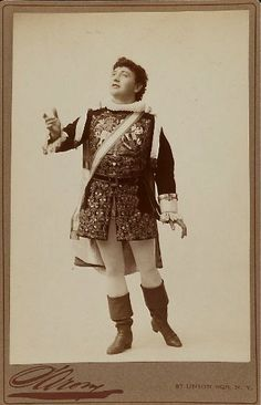 "Sarony photograph of Richard Clarke as Marco (Act Two) in the authorized American production of ""The Gondoliers"" at the New Park Theatre in New York, 1890."