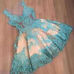 Sexy See through homecoming dress,blue lace prom dress,sleeveless homecoming dress