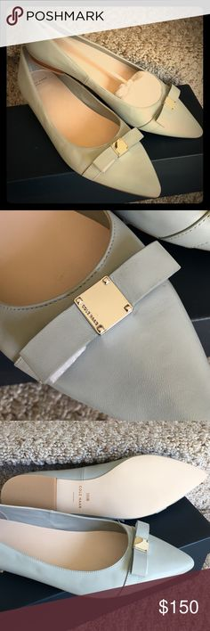 Host Pick! NWT! Cole Haan Grey Flats These flats are brand new in box! No scuffs or marks! Cole Haan Shoes Flats & Loafers