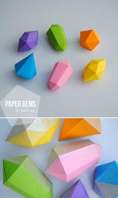 DIY paper gems and garlands