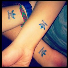 Adidas party tattoos