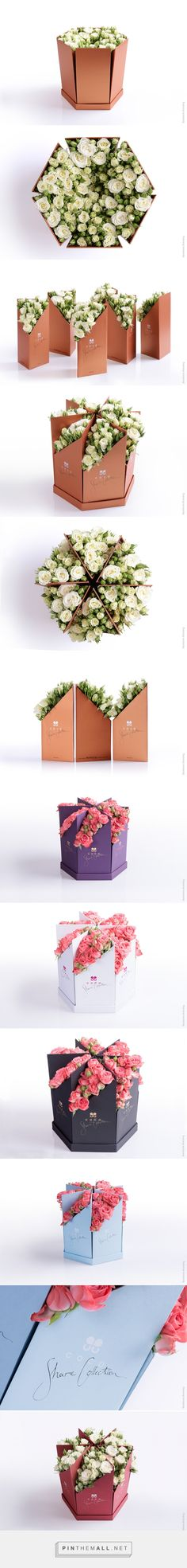 "Calligraphy, graphic design and packaging for Coco Fiori ""Share Collection"" on Behance by Backbone Branding Yervan, Armenia curated by Packaging Diva PD. A big bouquet of flowers which you can share into parts and present a piece of beauty to the people y Flower Packaging, Cool Packaging, Brand Packaging, Design Packaging, Packaging Ideas, Big Bouquet Of Flowers, Bouquet Box, Fleur Design, Packaging Design Inspiration"