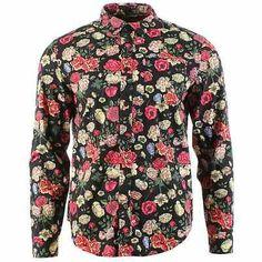 Mishka Fragrant Long Sleeve Button Up Shirt Black