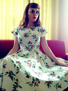 Short sleeved swing dress