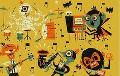 Juxtapoz Magazine - Ben Newman's Monster Band