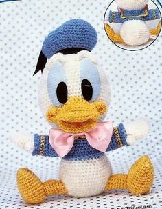 Baby Donald duck Amigurumi crochet pattern by Kapteinhaak on Etsy, €3.00