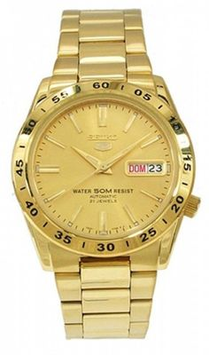 If you like keeping up with the latest fashion and accessory trends, buy Men's Watch Seiko mm) at the best price.Gender: MenDiameter of the box: 37 mmWatch face colour: GoldFunction: SimpleBracelet material: SteelMovement: AutomaticType of fastening: Book Seiko Diver, Seiko 5 Sports, Timex Watches, Seiko Watches, Simple Bracelets, Plaque, Gold Watch, Watches For Men, Fashion Accessories