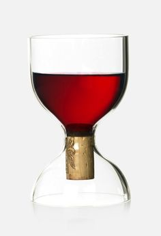 Corked wine glass by Sebastian Bergne. Hand made in borosilicate glass.  #SebastianBergne #wine #glass