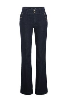 Jean flare double boutonnage