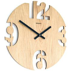 Limited time sale, order today to avoid disappointment. Unique Clocks, Cool Clocks, Clock Art, Diy Clock, Modern Tv Wall Units, Modern Clock, Wall Clock Design, Intarsia Woodworking, Wood Slab
