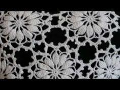 Blusa Maria Flor PARTE 1 - YouTube Crochet Table Runner Pattern, Crochet Doily Rug, Crochet Doily Diagram, Crochet Leaves, Crochet Wool, Crochet Tablecloth, Thread Crochet, Crochet Stitches, Crochet Pattern Central