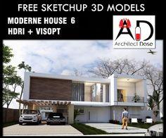 SKETCHUP 3D MODELS - MODERN HOUSE