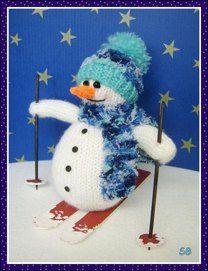 Samuel the skiing snowman