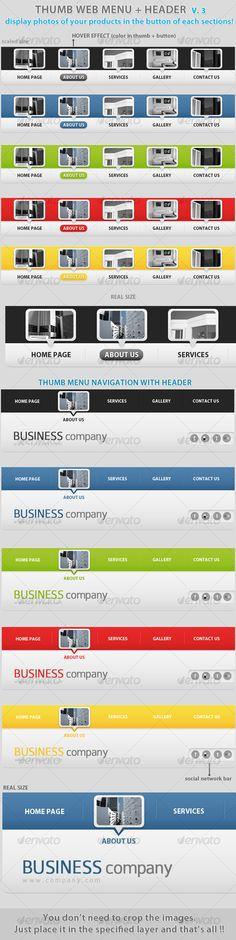 Thumb menu nav&header place photos in buttons v.3!
