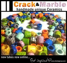 Always handmade, always unique and always something new to try! New collection of Crack and Marble enamel ceramic tubes now online!  www.nikolisgroup.com