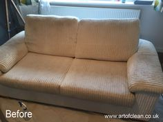 Art of Clean - before cleaning sofa