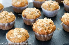 A Crunchy Banana, Cherries, and Coconut Muffins recipe you'll love http://www.caribbeangreenliving.com/recipes/dessert-cake-and-more/a-crunchy-banana-cherries-and-coconut-muffins-recipe-youll-love/?utm_campaign=coschedule&utm_source=pinterest&utm_medium=Caribbean%20Green%20Living&utm_content=A%20Crunchy%20Banana%2C%20Cherries%2C%20and%20Coconut%20Muffins%20recipe%20you%27ll%20love