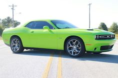 2015 Dodge Challenger, R/T Sublime Green, 5.7L In. V8 Click to find out more - http://newmusclecars.org/2015-dodge-challenger-rt-sublime-green-5-7l-in-v8/ COMMENT.